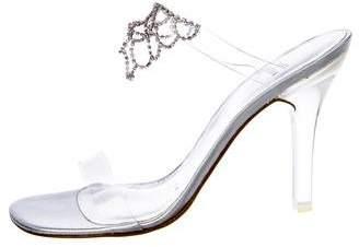 Stuart Weitzman Embellished Round-Toe Sandals