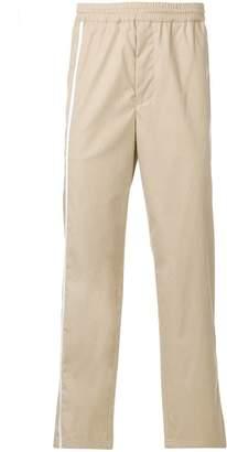 Helmut Lang stripe detail track pants