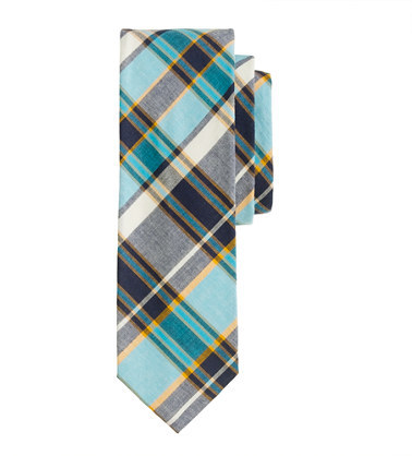 J.Crew Indian cotton tie in pacific plaid