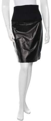 The Row Fitted Knee-Length Skirt Black Fitted Knee-Length Skirt
