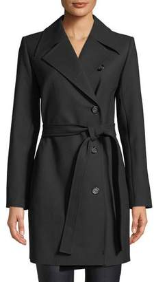Helmut Lang Double-Breasted Wool Trench Coat