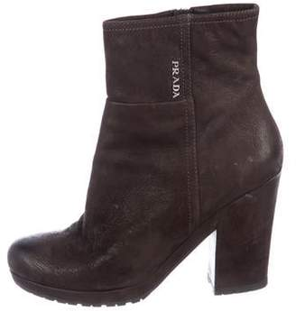 Prada Sport Suede Ankle Boots