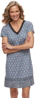 Croft & Barrow Women's Printed V-Neck Nightgown