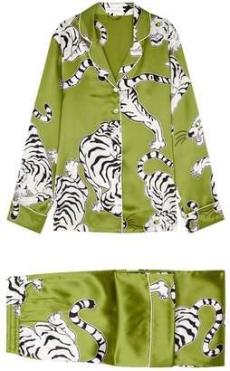 Olivia Von Halle Lila Rola Printed Silk Pyjama Set