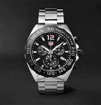 Tag Heuer Formula 1 Chronograph 43mm Stainless Steel Watch - Men - Black