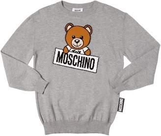 Moschino Teddy Bear Cotton & Wool Knit Sweater