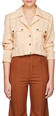 Chloé Women's Horse-Embroidered Silk Blouse