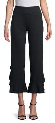 Kensie High-Waisted Ruffled Pants
