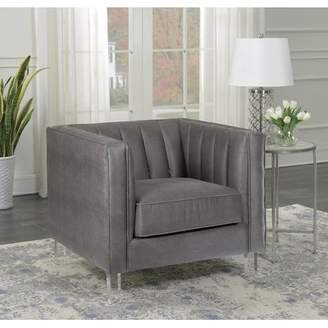 Bronx Ivy Fenn Channeled Upholstered Side Chair