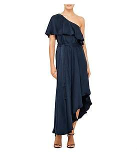 Zimmermann Sueded One Shoulder Long Dress