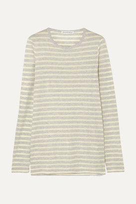 Alexander Wang Striped Slub Jersey Top - Chartreuse