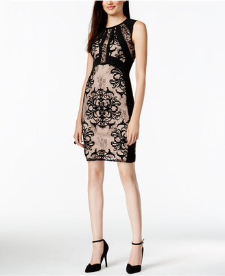 Ivanka Trump Lace-Combo Sheath Dress $158 thestylecure.com