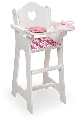 Badger Basket Doll High Chair with Plate Bib Spoon - Chevron Print $20.49 thestylecure.com
