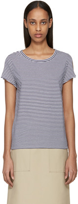 A.P.C. Navy & White Striped Theo T-Shirt $120 thestylecure.com