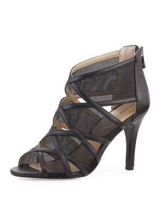 Adrienne Vittadini Garo Cutout Mesh Sandal, Black $89 thestylecure.com