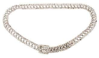 Saint Laurent Vintage Chain-Link Crystal Belt