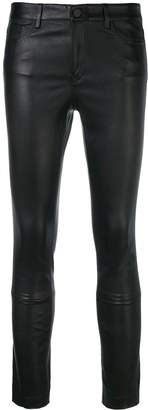 Theory skinny leather trousers