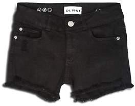 DL1961 Girls' Lucy Frayed-Hem Denim Shorts - Big Kid