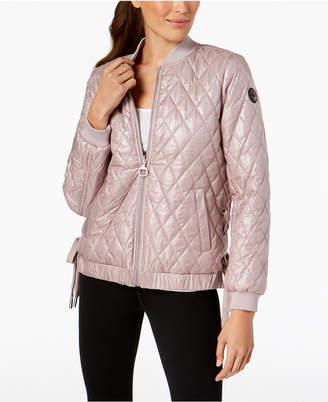 Calvin Klein Lace-Up Reversible Bomber Jacket