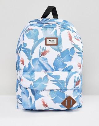 Vans Old Skool Printed Backpack In Leaf Print V00ONINKQ