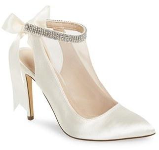 Nina 'Rosana' Crystal-Embellished Tie-Back Pump (Women) $128.95 thestylecure.com