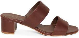 Mansur Gavriel Calf 40mm Double Strap Sandal - Chocolate