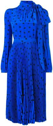 Valentino heart print midi dress