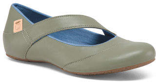 Leather Mary Jane Comfort Flats