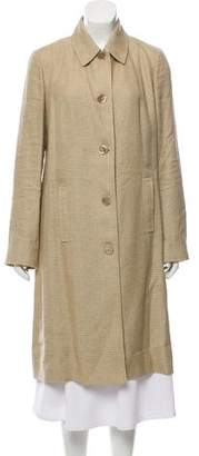 Ralph Lauren Long Linen & Silk-Blend Coat
