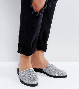 Monki Metallic Glitter Mules