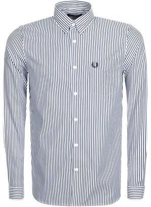 Fred Perry Stripe Twill Shirt Blue