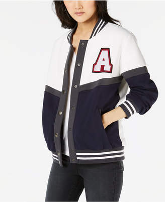 Say What Juniors' Letterman Snap Jacket