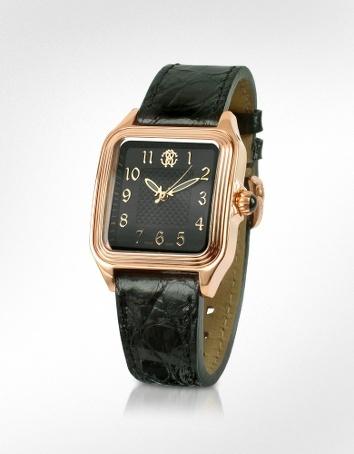 Roberto Cavalli Venom - Ladies' Black Gold Plated Dress Watch