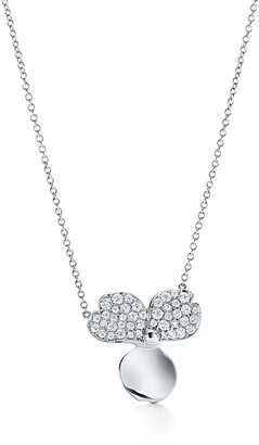 Tiffany & Co. & Co. Paper Flowers diamond flower pendant in platinum with diamonds