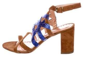 Jean-Michel Cazabat Suede Multistrap Sandals