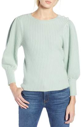 Halogen x Atlantic-Pacific Balloon Sleeve Wool & Cashmere Sweater