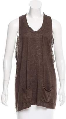 Hache Sleeveless Knit Linen Top w/ Tags