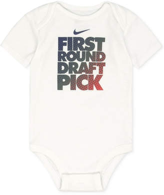 Nike First Round Draft Pick Cotton Bodysuit, Baby Boys