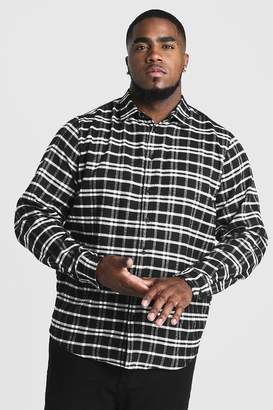 boohoo Big & Tall Shirt With Classic Check