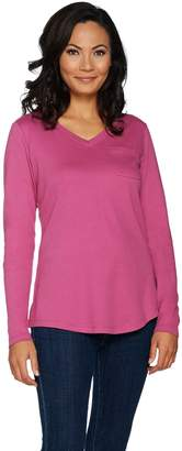 Isaac Mizrahi Live! Essentials Long Sleeve T-shirt with Pocket