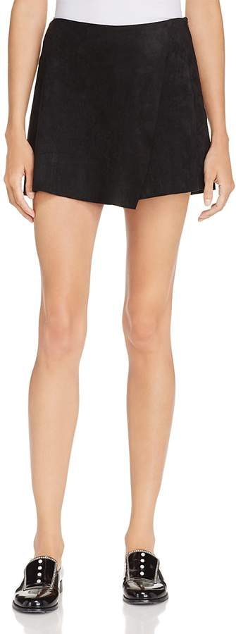 Faux Suede Skort - 100% Exclusive