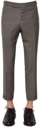Thom Browne 18cm Skinny Wool Twill Pants W/ Side Tab