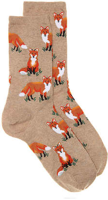 Hot Sox Fox Crew Socks - Women's