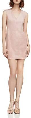 BCBGMAXAZRIA Malina Faux-Suede Mini Dress