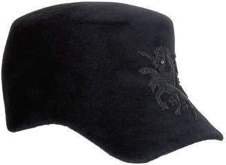 Philip Treacy Wool Embellished Baseball Cap