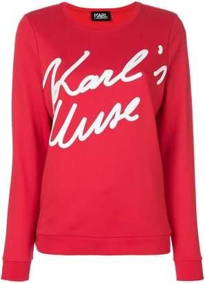 Karl Lagerfeld Karl's Muse sweatshirt