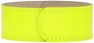 Lanvin Yellow Thin Neon Slap Bracelet
