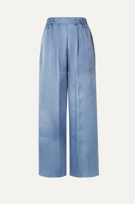Forte Forte forte_forte - Washed-satin Wide-leg Pants - Light blue