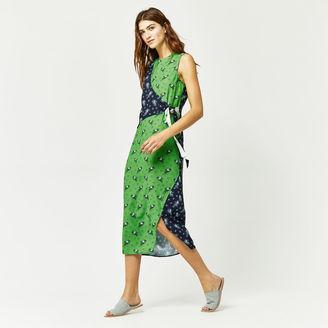 Warehouse Mixed Ditsy Chintz Wrap Dress