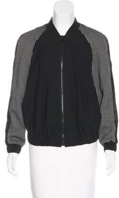 Elizabeth and James Textured Bomber Jacket